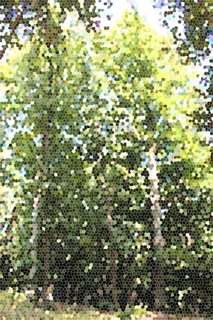 forrest: Artistic Stained Glass Forrest Background