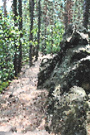 artictic: Artistic Stained Glass Rocky Road Background