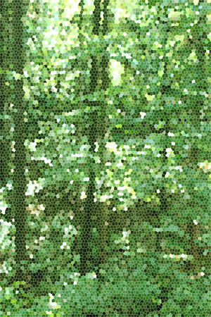 artictic: Artistic Stained Glass Forrest Background