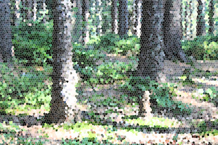 artictic: Artistic Stained Glass Forrest Ground Background