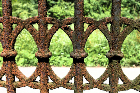 fresco: Artistic Fresco Rusty Fence Background