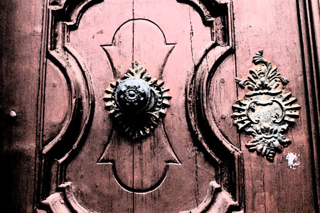 artictic: Artistic Fresco Door Handle Background