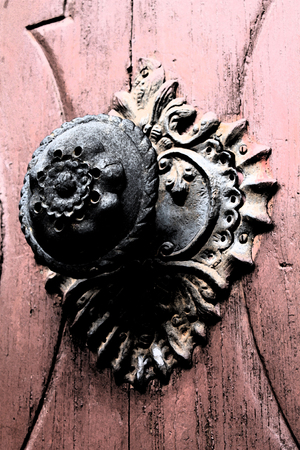 fresco: Artistic Fresco Door Handle Background
