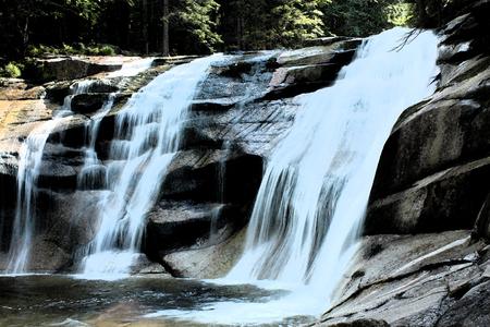 artictic: Artistic Fresco Waterfall Harrachov Background Stock Photo