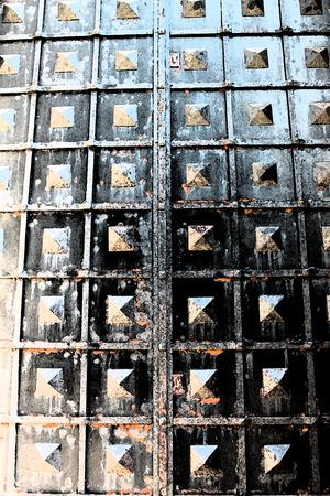artictic: Artistic Fresco Iron Door Background