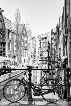 Bike in Amsterdam Black and White