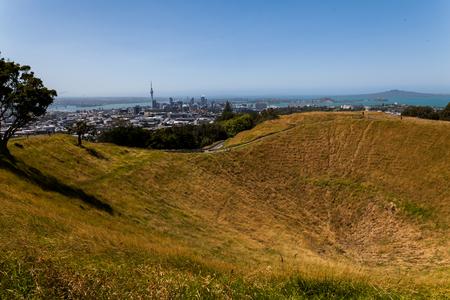 eden: View to Auckland from Mount Eden volcano
