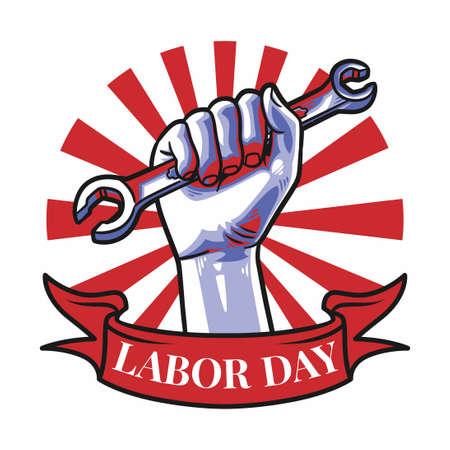 Happy labor day illustration design Stock fotó - 155408176