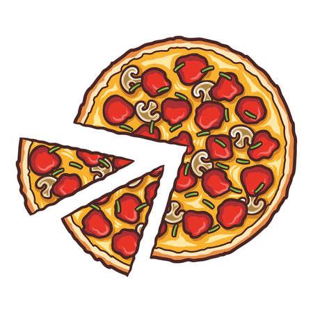 Fresh Pizza, Delicious Pizza Slice