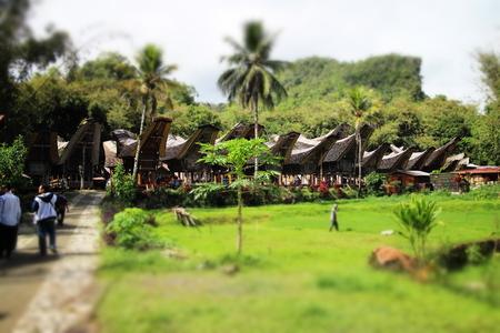 Tongkonan - Traditional House of Toraja Stock Photo