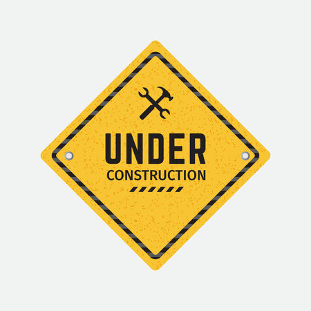 Vector under construction road sign Иллюстрация