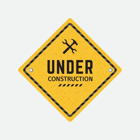 Vector under construction road sign Фото со стока - 123982396
