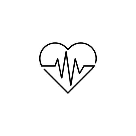 Single heartbeat Icon vector