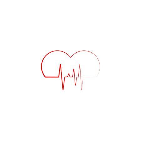 Heartbeat Icon vector Фото со стока - 128051012