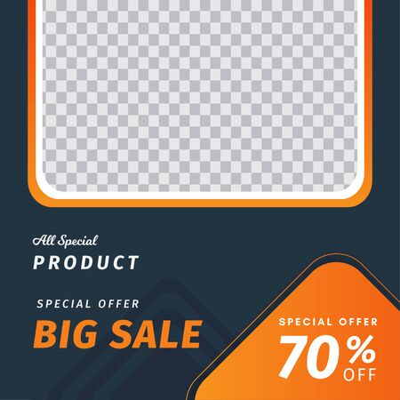 Sale web social media banner template. Editable square abstract , sale banner template for social media post.