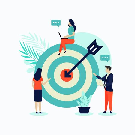 Business concept illustration flat design with people. this design can be used for websites, landing pages, UI, mobile applications, posters, banner