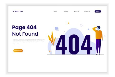 Modern flat design error 404 landing pages. The design can be used for websites, landing pages, UI, mobile applications, posters, banners