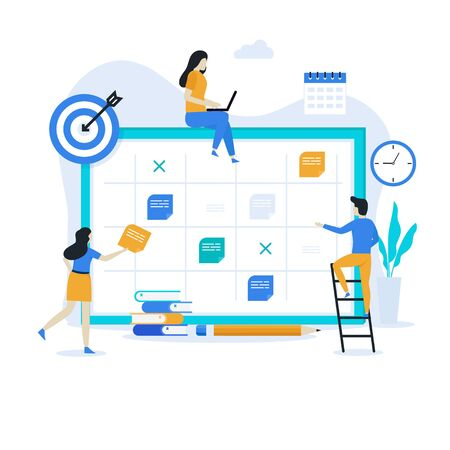 Business planning landing page illustration concept. Modern flat design for websites, landing pages, mobile applications, posters and banners