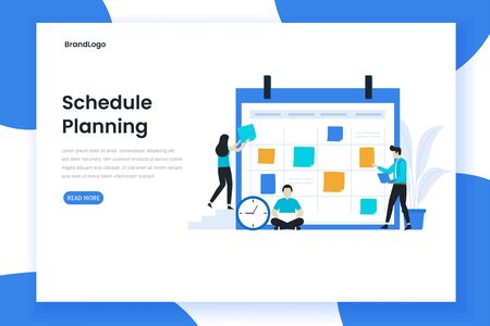Planning Schedule for landing page. Modern flat design for websites, landing pages, mobile applications, posters and banners