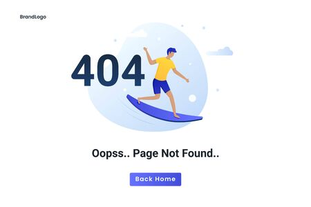 Flat concept 404 error page not found. Illustration for websites, landing pages, mobile applications, posters and banners