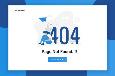 Illustration design concept 404 error page not found. Illustration for websites, landing pages, mobile applications, posters and banners