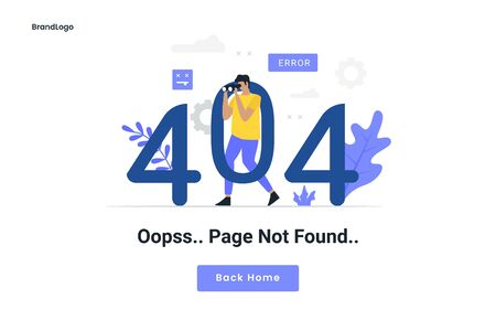 404 maintenance error landing page illustration. Illustration for websites, landing pages, mobile applications, posters and banners