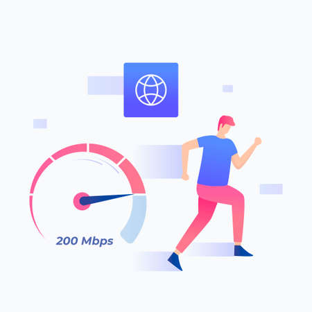 Flat fast internet connections concept. Illustration for websites, landing pages, mobile applications, posters and banners.
