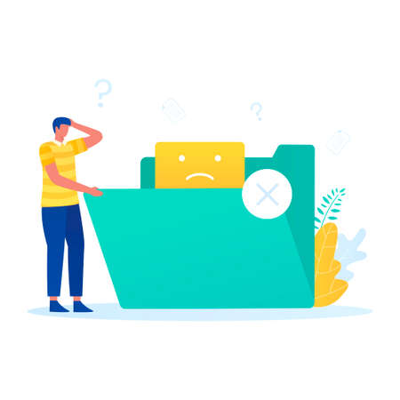 No data illustration vector concept. Illustration for websites, landing pages, mobile applications, posters and banners Иллюстрация