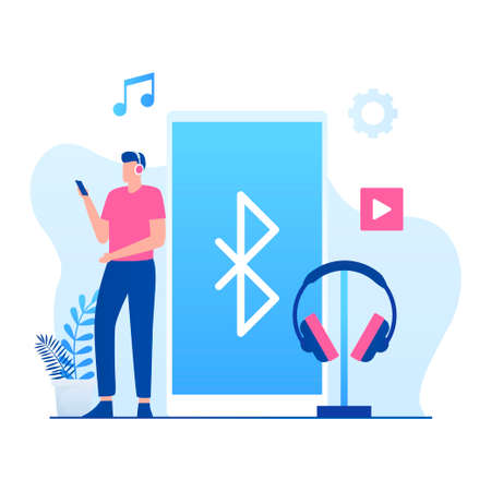 Wireless connection illustration concept. Illustration for websites, landing pages, mobile applications, posters and banners