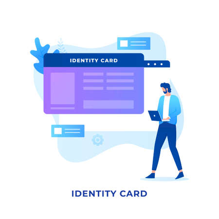 Flat illustration Identity card concept design. Illustration for websites, landing pages, mobile applications, posters and banners