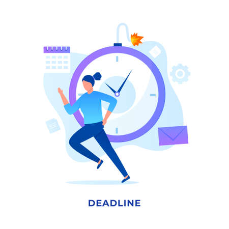 Deadlines illustration vector concept. Illustration for websites, landing pages, mobile applications, posters and banners