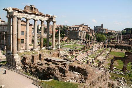 rome italy: forum romanum rome italy