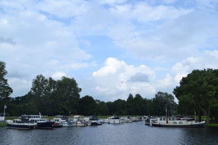 motor boats: motor boats in a marina