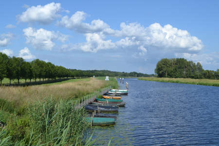 rowboats: row-boats in river Oude IJssel
