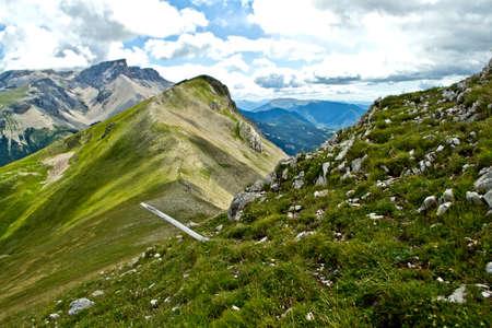 mountainscape: Alps near Col de Feste in France