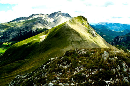 mountainscape: Alps near Col de Feste in France