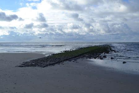 breakers: breakwater in breakers on Dutch coast