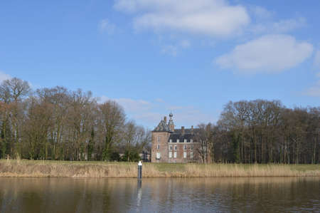 ijssel: Ancient castle at river IJssel Stock Photo