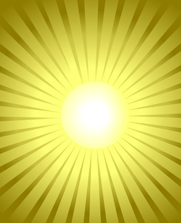 burst golden background yellow glowing rays from white center Illustration