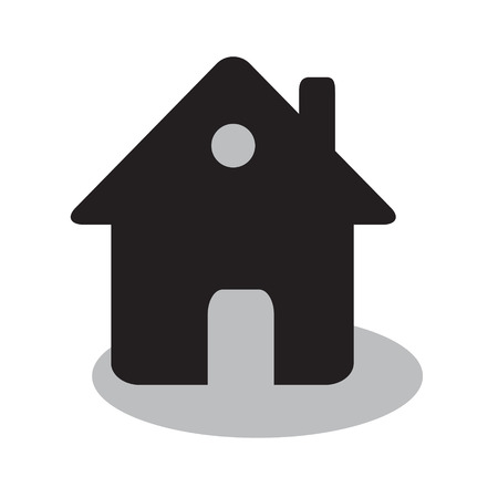 home or house simple flat black icon, real estate or housing concept