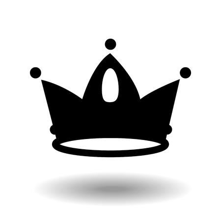 Kronensymbol im trendigen flachen Stil schwarz auf weißem Hintergrund. Kronensymbol für Ihr Website-Design, Logo, App, Benutzeroberfläche. Vektorabbildung, EPS10.