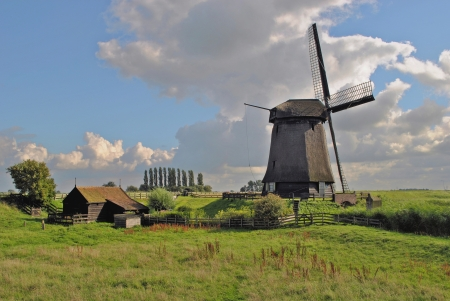 schermerhorn: Mill at Schermerhorn in The Netherlands