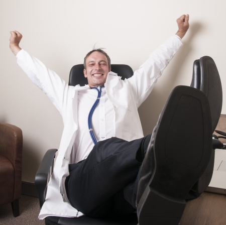Doctor relaxing in his chair