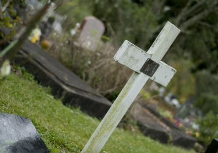 An image of a cemetery in West Auckland New Zealand
