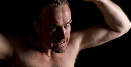 An image of an angry person Stock Photo
