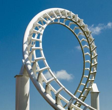 An image of a curve from a rollercoaster track