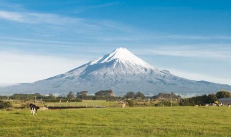 An image of Mount Taranaki in New Zealand