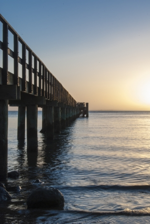 A sunrise image at the early hours at Cornwallis pier