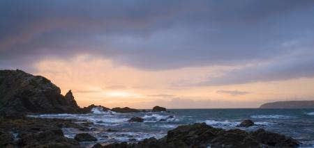 A wonderful blue sunrise from New Zealand Stock Photo