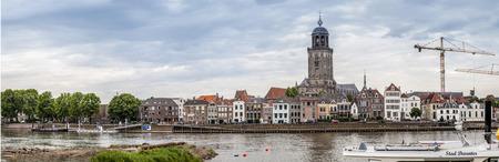 nederland: Panorama Deventer Stock Photo